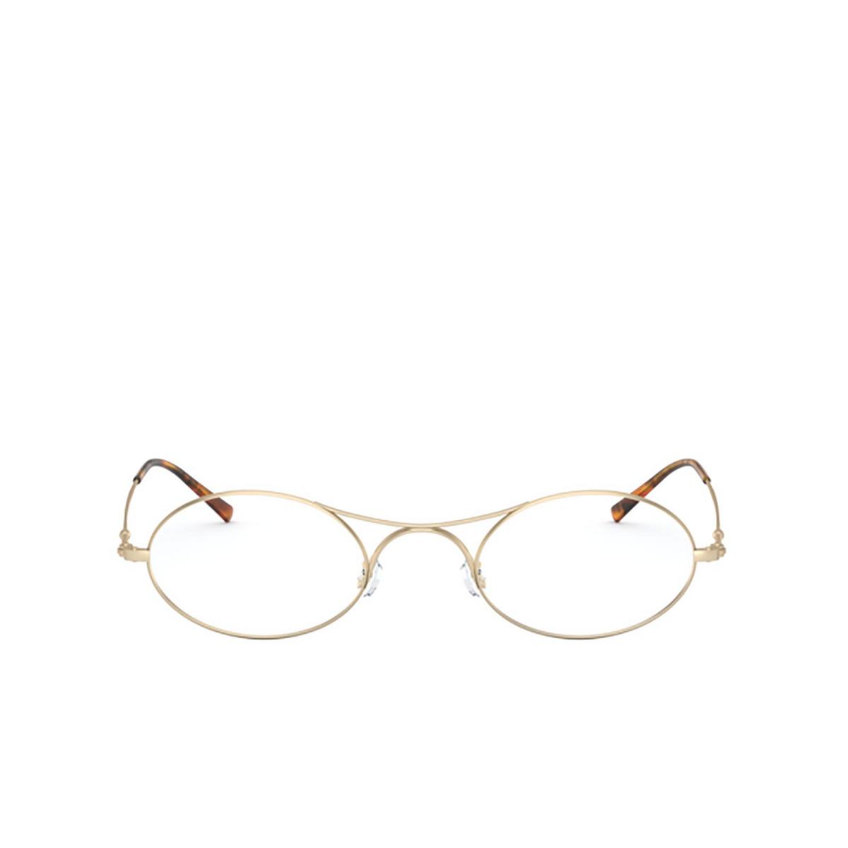 Giorgio Armani® Oval Eyeglasses: AR 229M color Matte Pale Gold 3002 - front view.