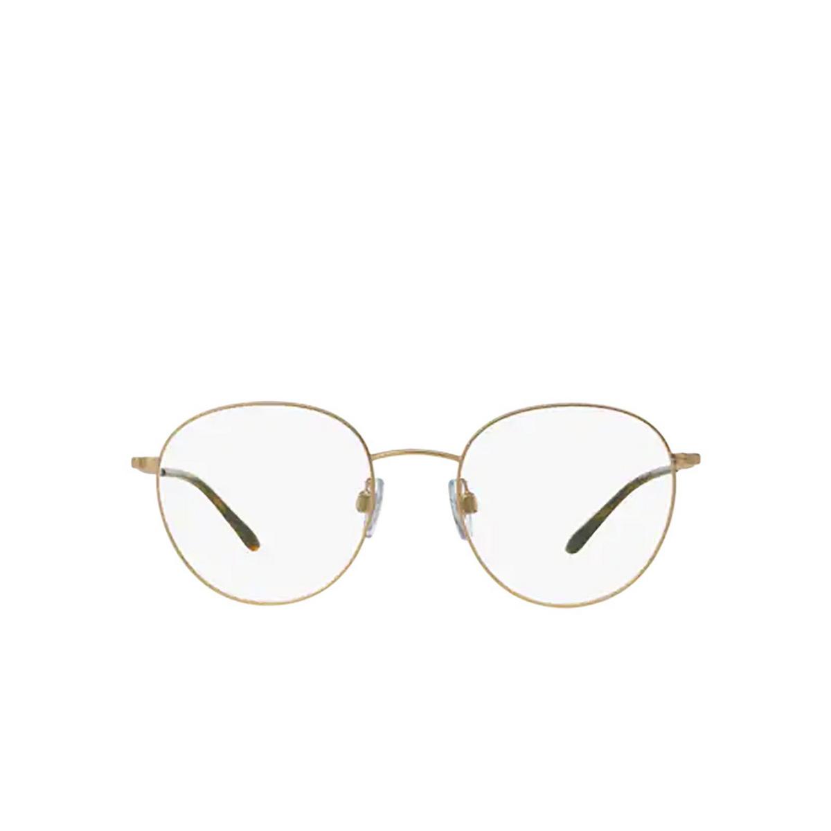 Giorgio Armani® Round Eyeglasses: AR5057 color Matte Pale Gold 3002 - front view.
