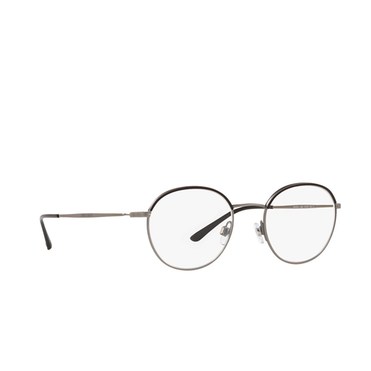 Giorgio Armani® Round Eyeglasses: AR5070J color Matte Gunmetal / Black 3321 - three-quarters view.