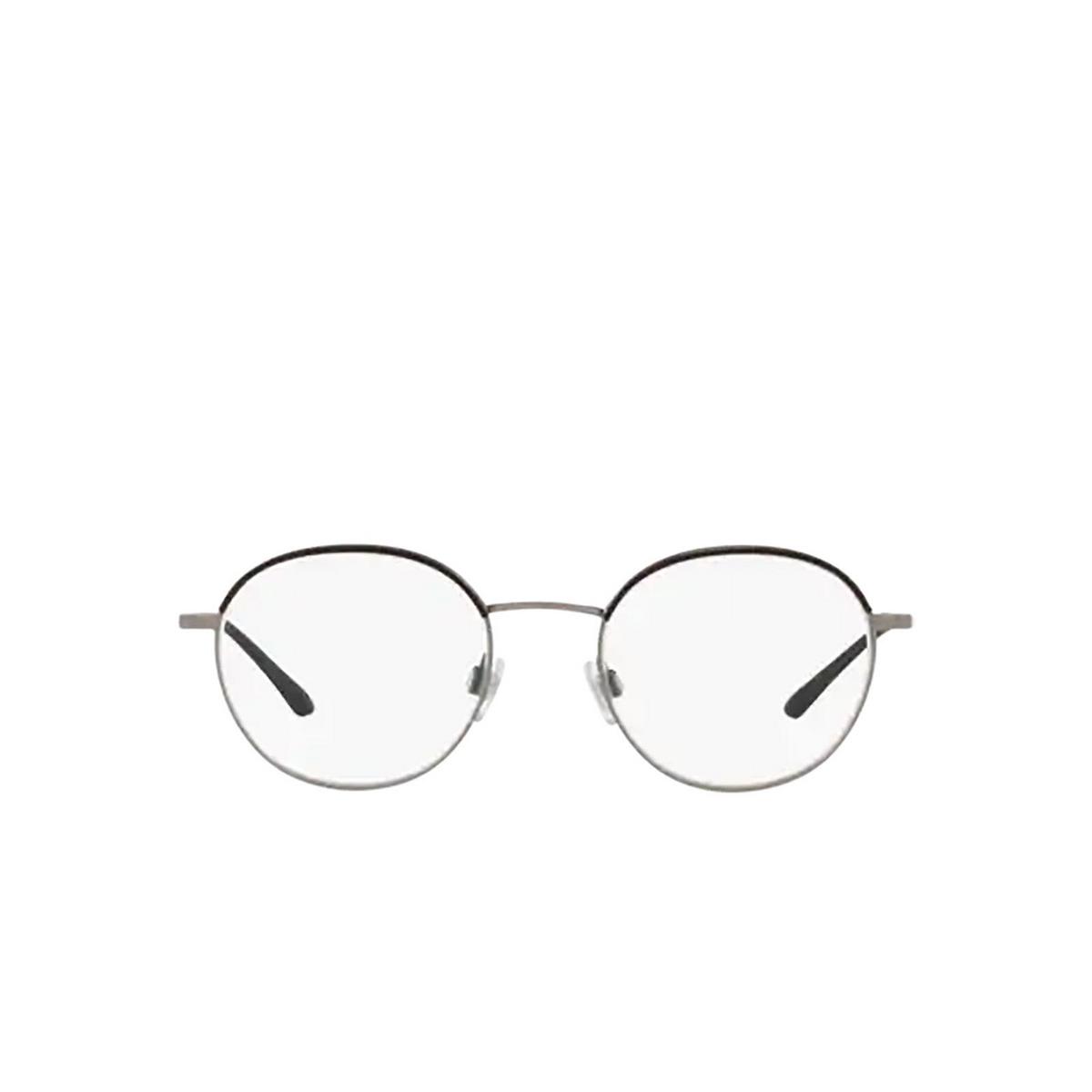 Giorgio Armani® Round Eyeglasses: AR5070J color Matte Gunmetal / Black 3321 - front view.