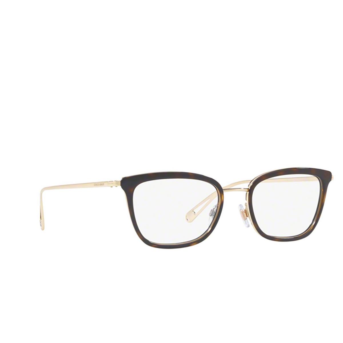 Giorgio Armani® Rectangle Eyeglasses: AR5078 color Havana 3215 - three-quarters view.