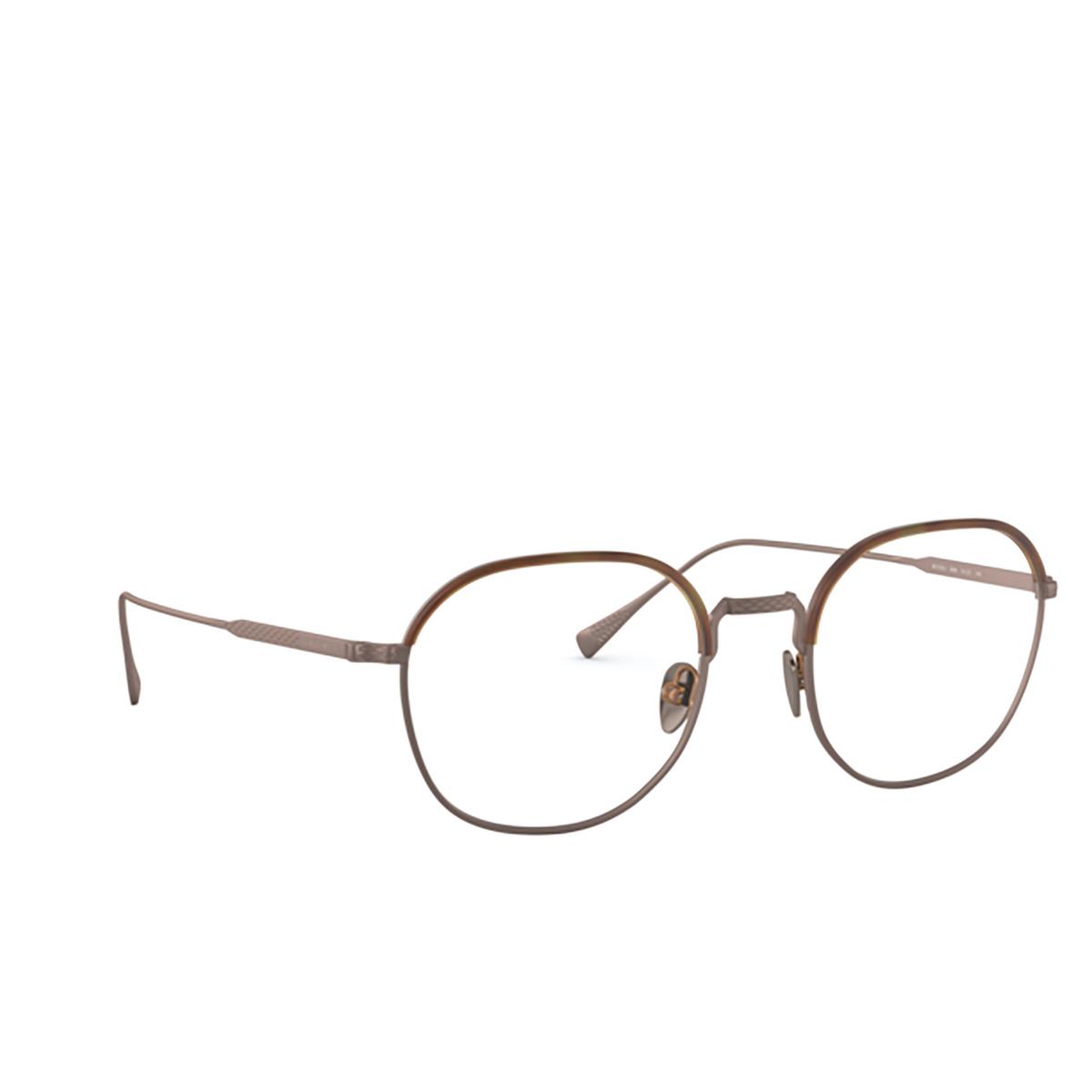 Giorgio Armani® Round Eyeglasses: AR5103J color Matte Honey Havana&bronze 3006 - three-quarters view.