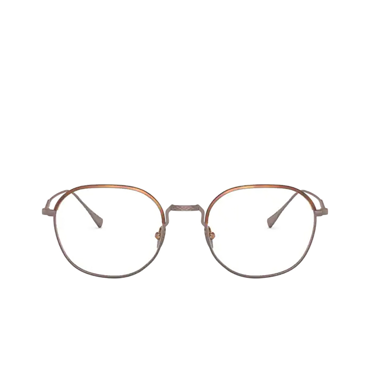 Giorgio Armani® Round Eyeglasses: AR5103J color Matte Honey Havana&bronze 3006 - front view.