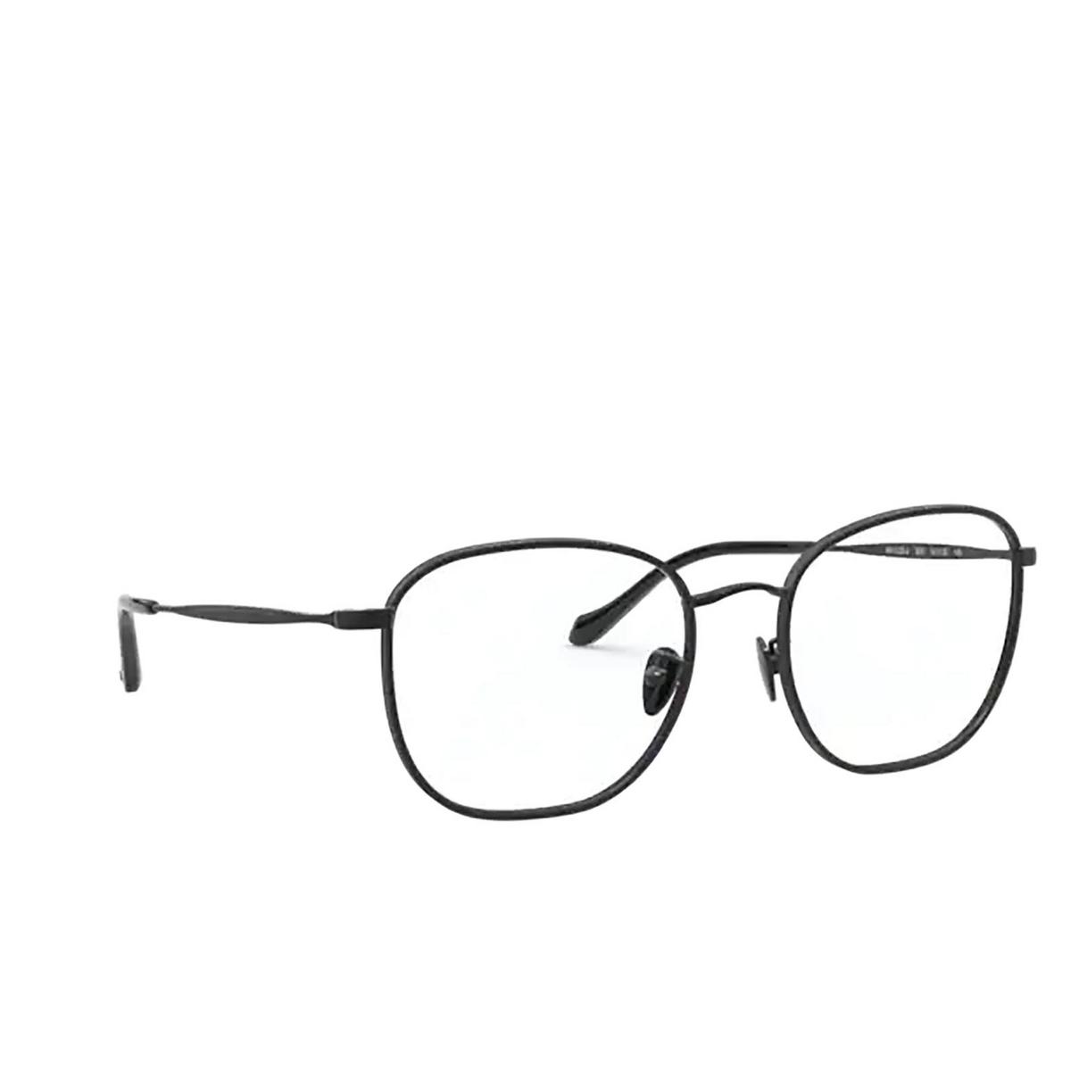 Giorgio Armani® Square Eyeglasses: AR5105J color Black&matte Black 3001 - three-quarters view.