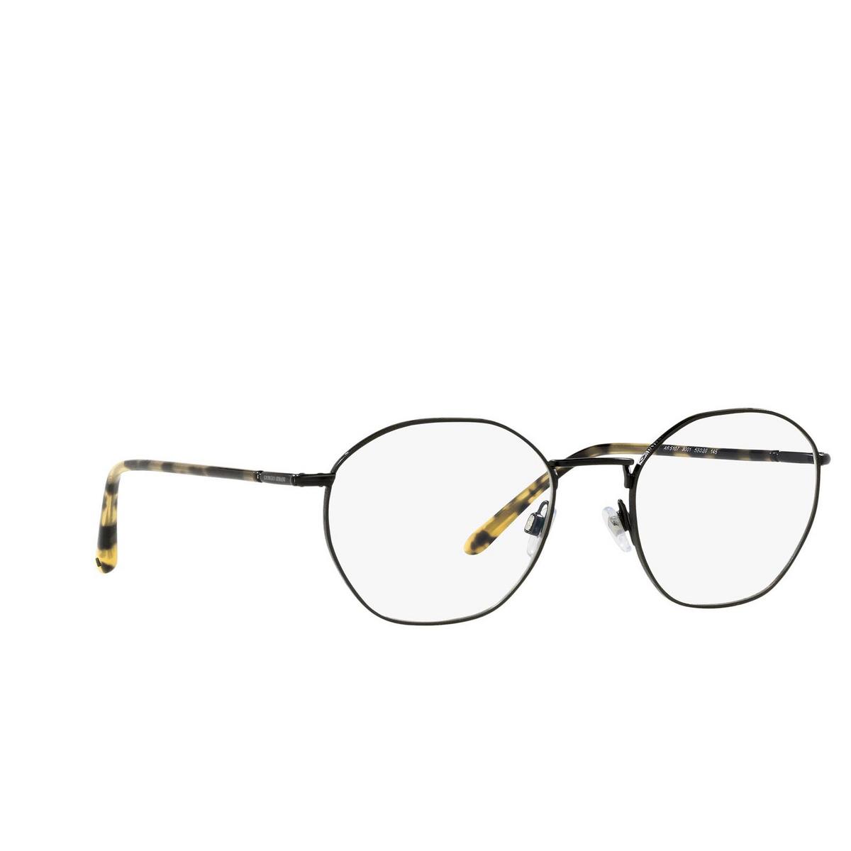Giorgio Armani® Square Eyeglasses: AR5107 color Matte Black 3001 - three-quarters view.