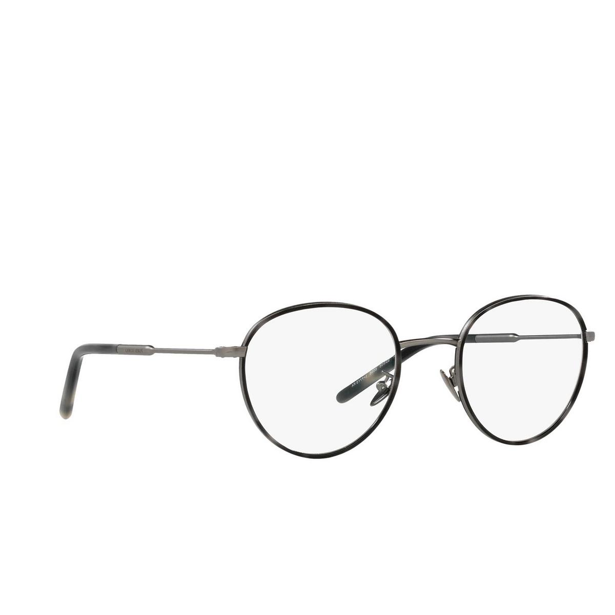 Giorgio Armani® Round Eyeglasses: AR5111J color Matte Gunmetal 3003 - three-quarters view.
