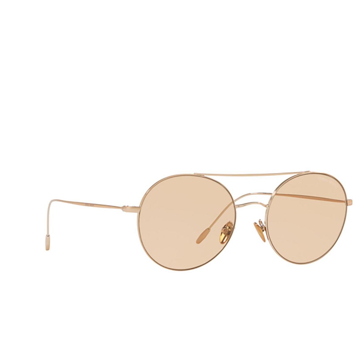 Giorgio Armani® Round Sunglasses: AR6050 color Bronze 301173 - three-quarters view.