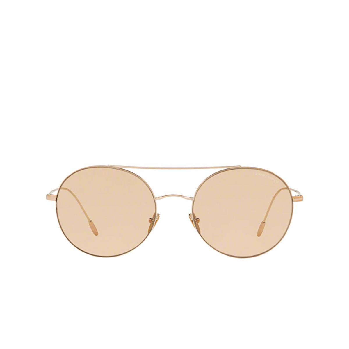 Giorgio Armani® Round Sunglasses: AR6050 color Bronze 301173 - front view.