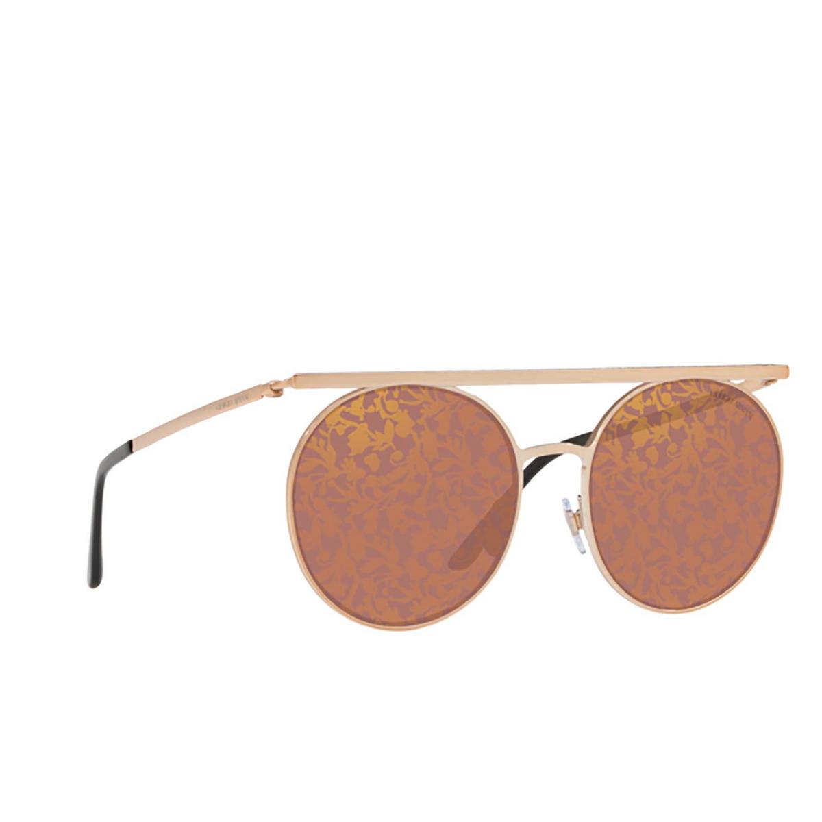 Giorgio Armani® Round Sunglasses: AR6069 color 3011U2 - three-quarters view.