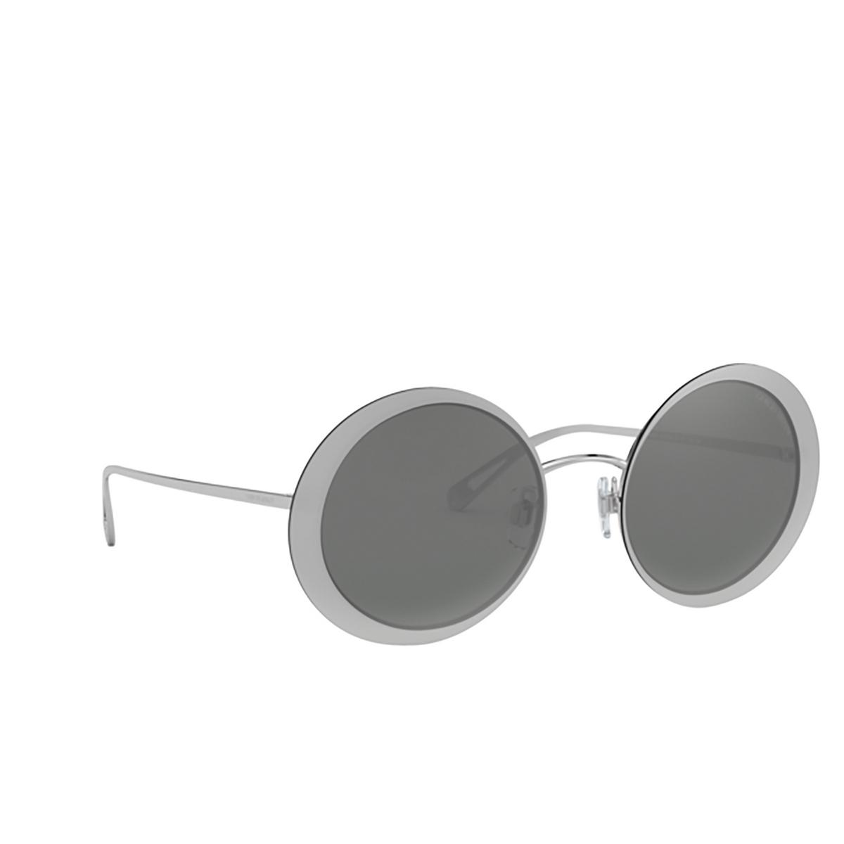 Giorgio Armani® Round Sunglasses: AR6087 color 30156G - three-quarters view.