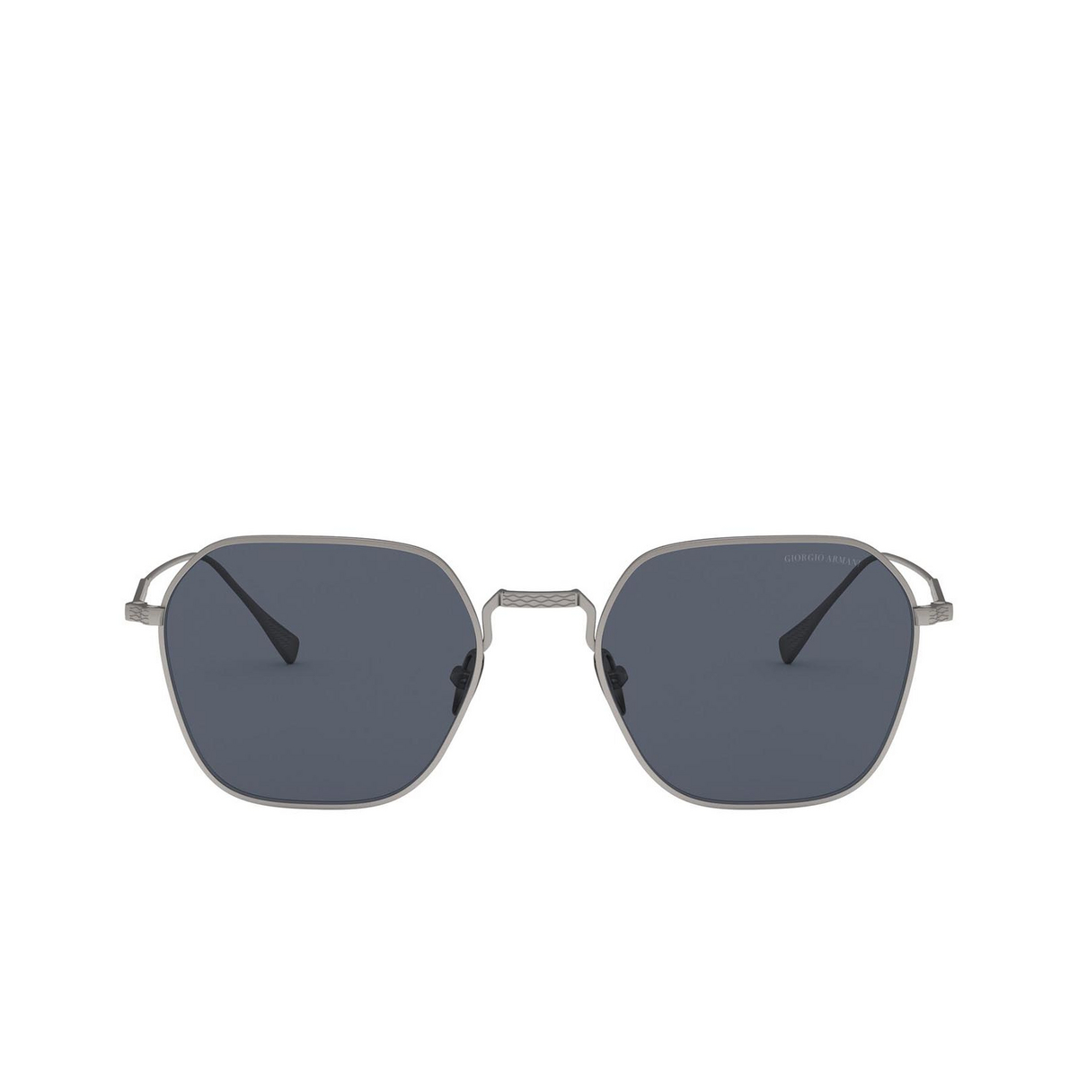 Giorgio Armani® Square Sunglasses: AR6104 color Matte Gunmetal 300387 - front view.