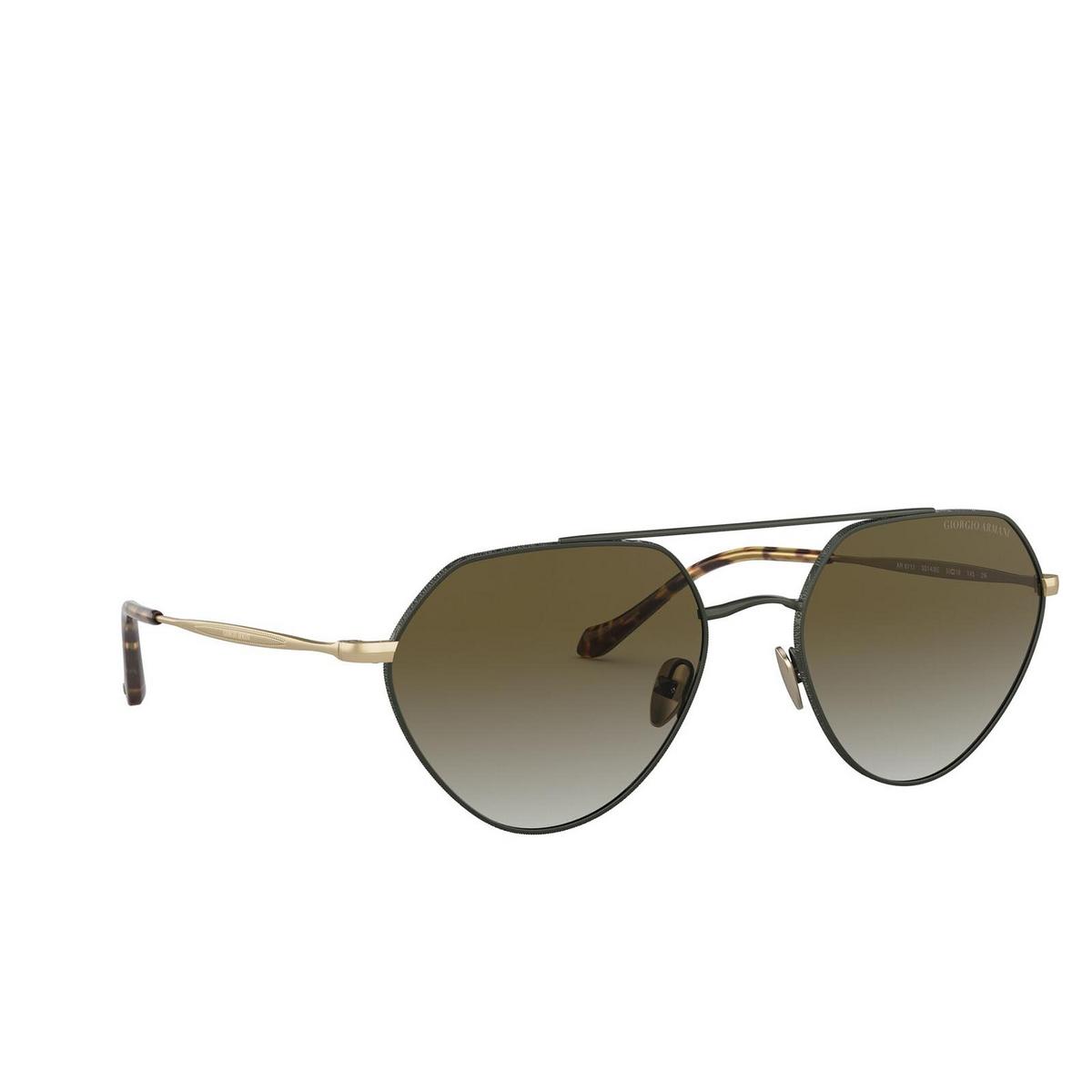 Giorgio Armani® Irregular Sunglasses: AR6111 color Matte Dark Green 33148E.