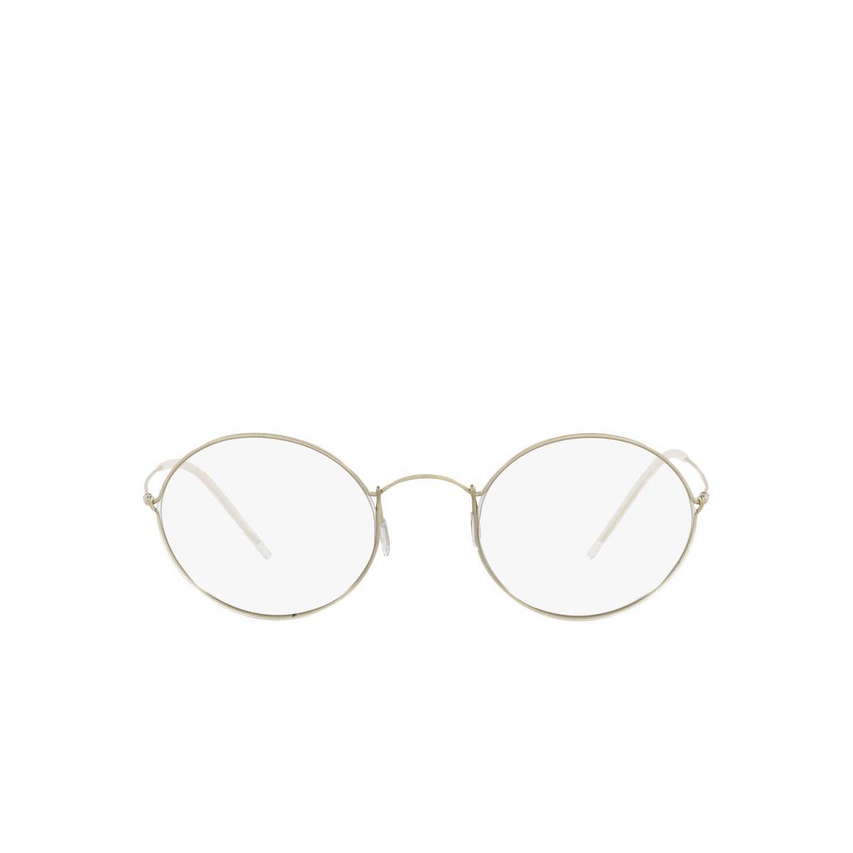 Giorgio Armani® Oval Sunglasses: AR6115T color Pale Gold 30021W - front view.