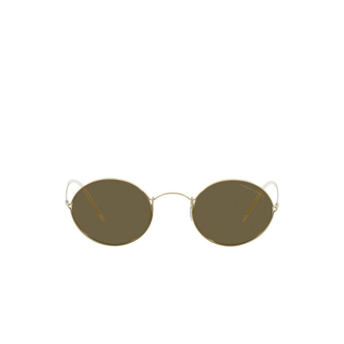 Giorgio Armani® Oval Sunglasses: AR6115T color Pale Gold 300273 - front view.