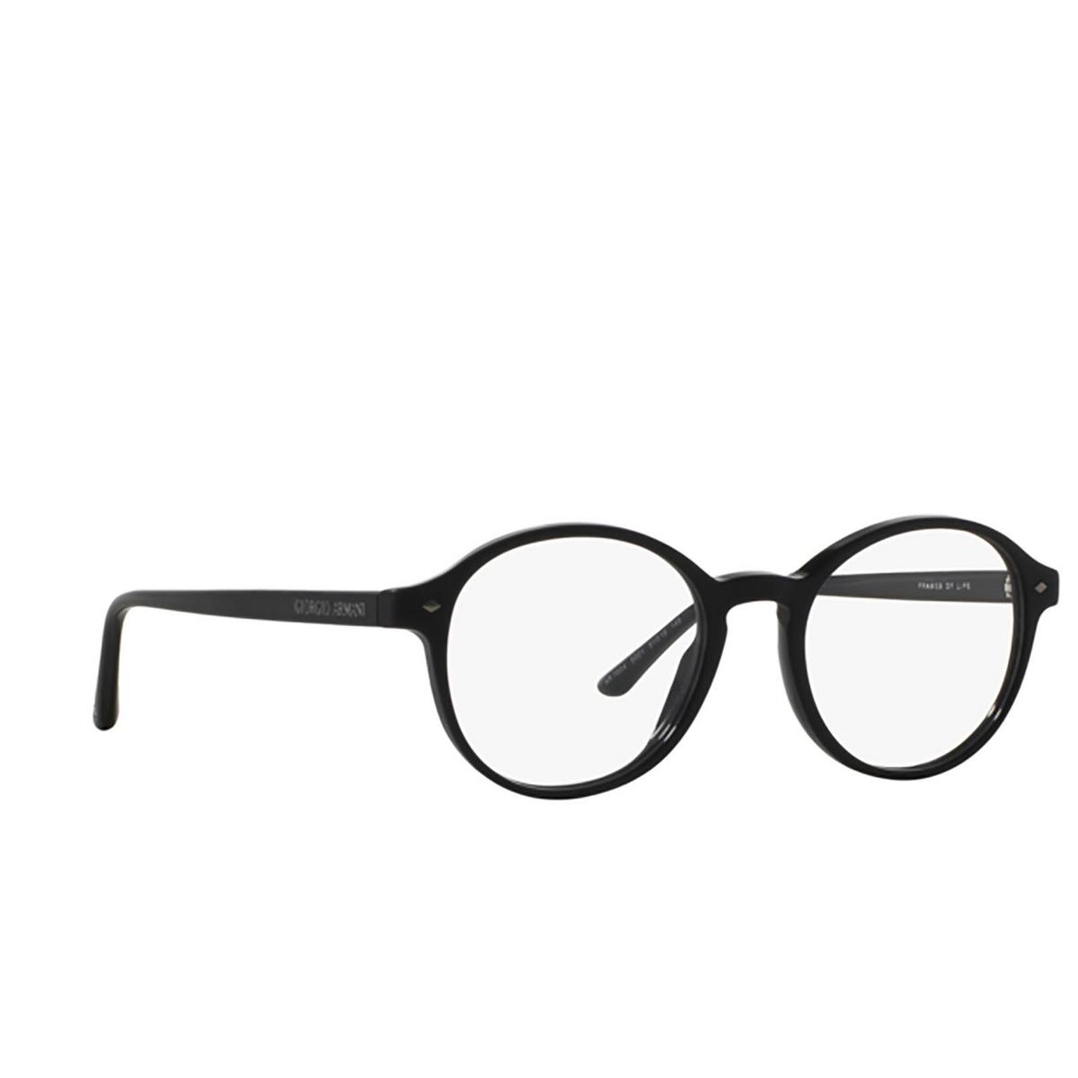 Giorgio Armani® Round Eyeglasses: AR7004 color Top Matte Black / Shiny 5001 - three-quarters view.