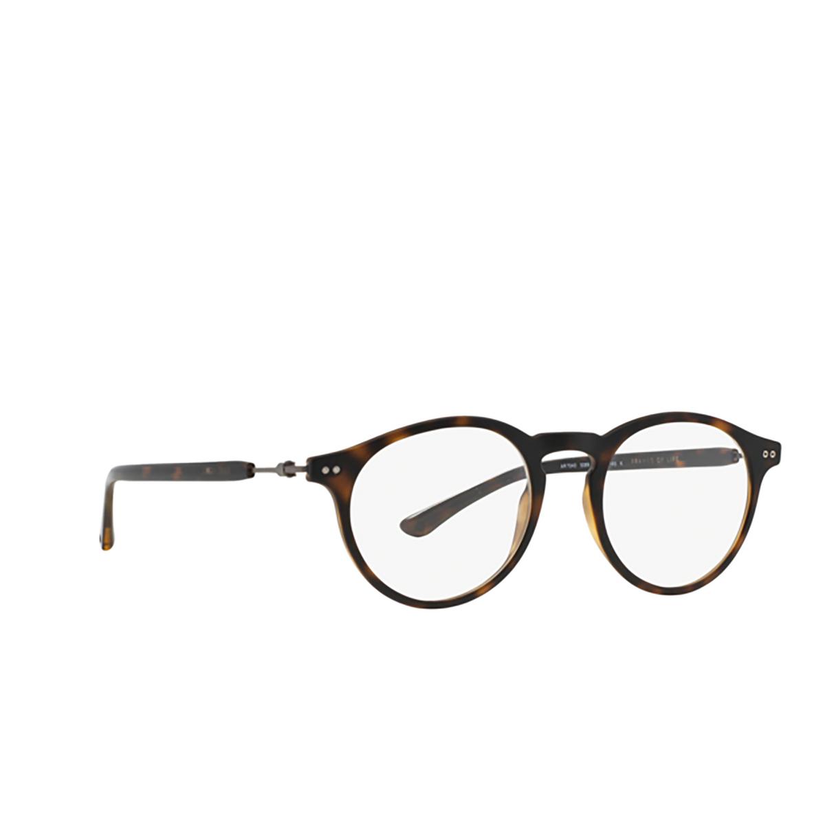 Giorgio Armani® Round Eyeglasses: AR7040 color Matte Havana 5089 - three-quarters view.