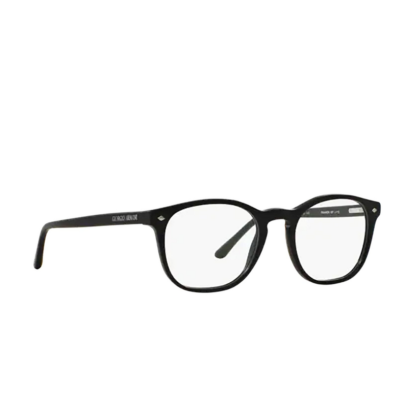 Giorgio Armani® Round Eyeglasses: AR7074 color Matte Black 5042.