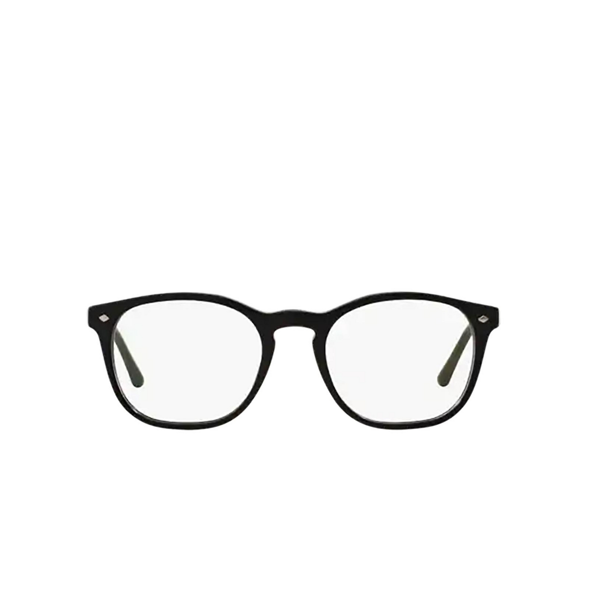 Giorgio Armani® Round Eyeglasses: AR7074 color Matte Black 5042 - front view.