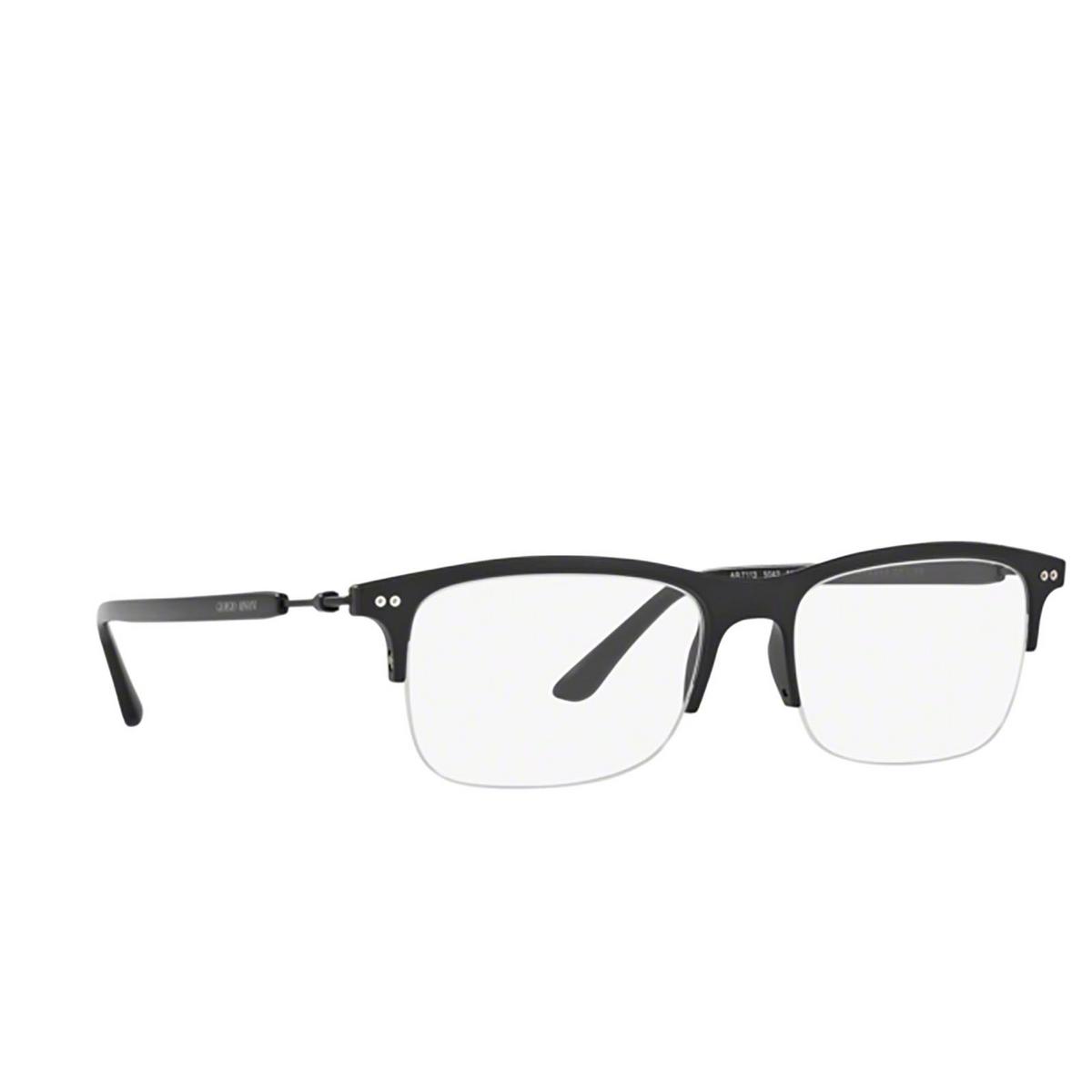 Giorgio Armani® Rectangle Eyeglasses: AR7113 color 5042 - three-quarters view.