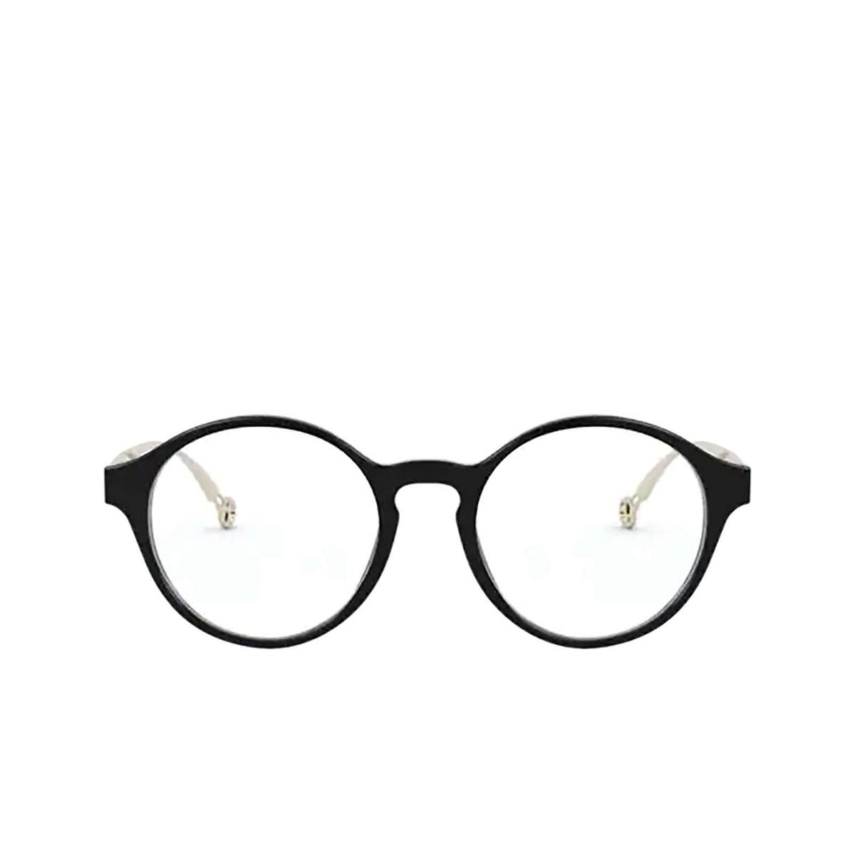 Giorgio Armani® Round Eyeglasses: AR7184 color Black 5001 - front view.