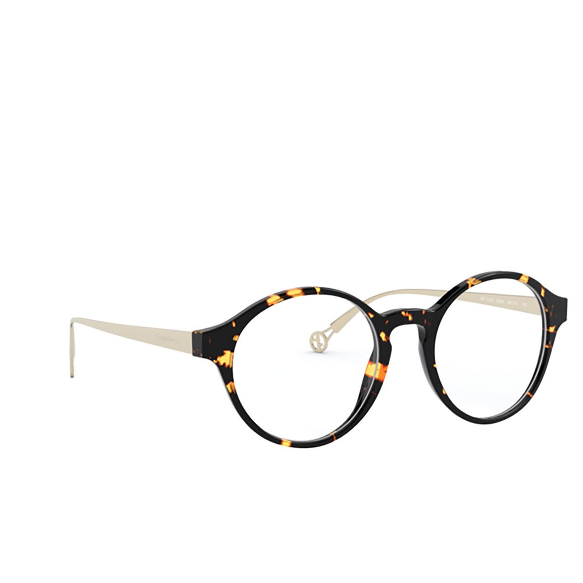 Giorgio Armani® Round Eyeglasses: AR7184 color Havana 5294 - three-quarters view.