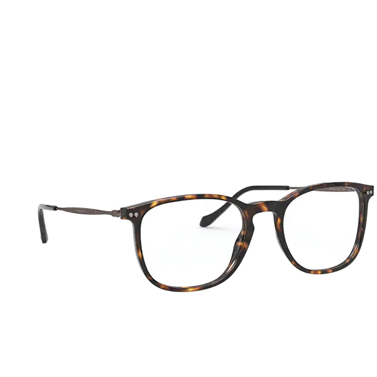 Giorgio Armani® Rectangle Eyeglasses: AR7190 color Dark Havana 5026 - three-quarters view.