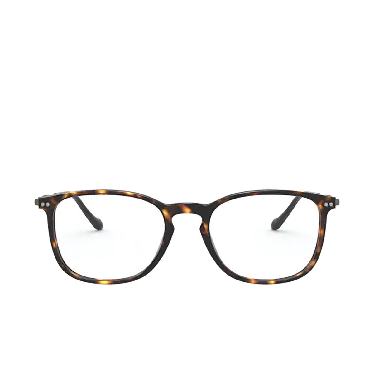 Giorgio Armani® Rectangle Eyeglasses: AR7190 color Dark Havana 5026 - front view.