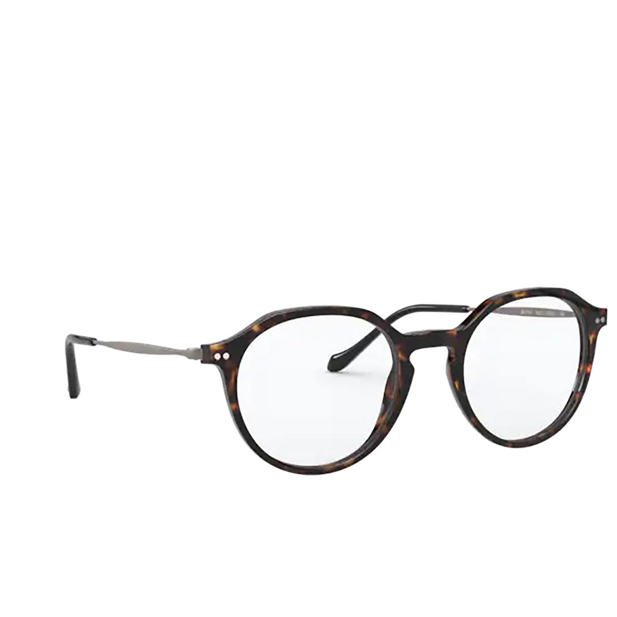 Giorgio Armani® Round Eyeglasses: AR7191 color Havana 5026 - three-quarters view.