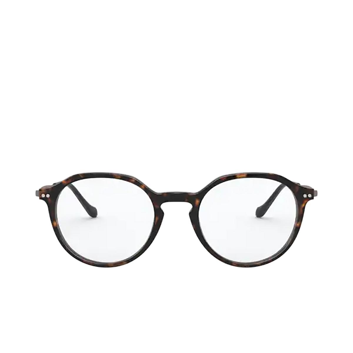 Giorgio Armani® Round Eyeglasses: AR7191 color Havana 5026 - front view.