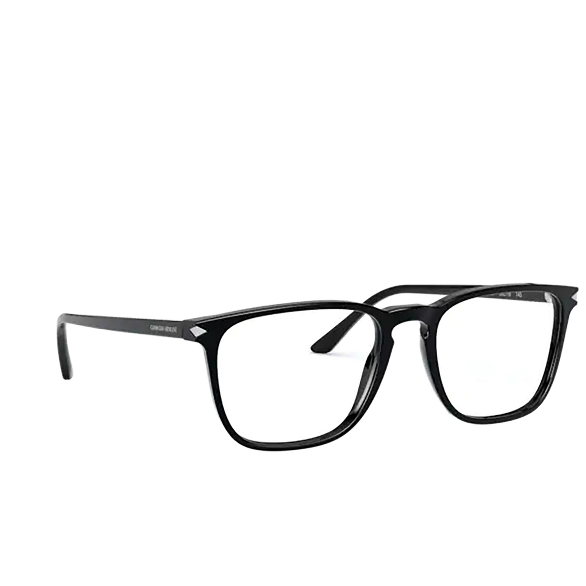 Giorgio Armani® Square Eyeglasses: AR7193 color Black 5001 - three-quarters view.