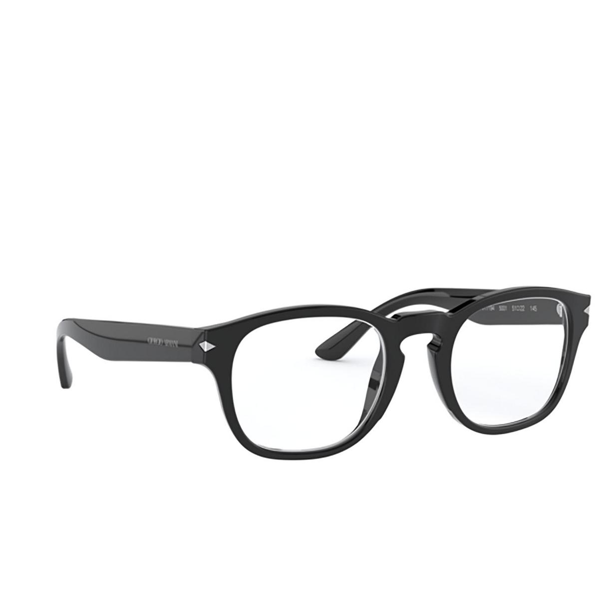 Giorgio Armani® Square Eyeglasses: AR7194 color Black 5001 - three-quarters view.