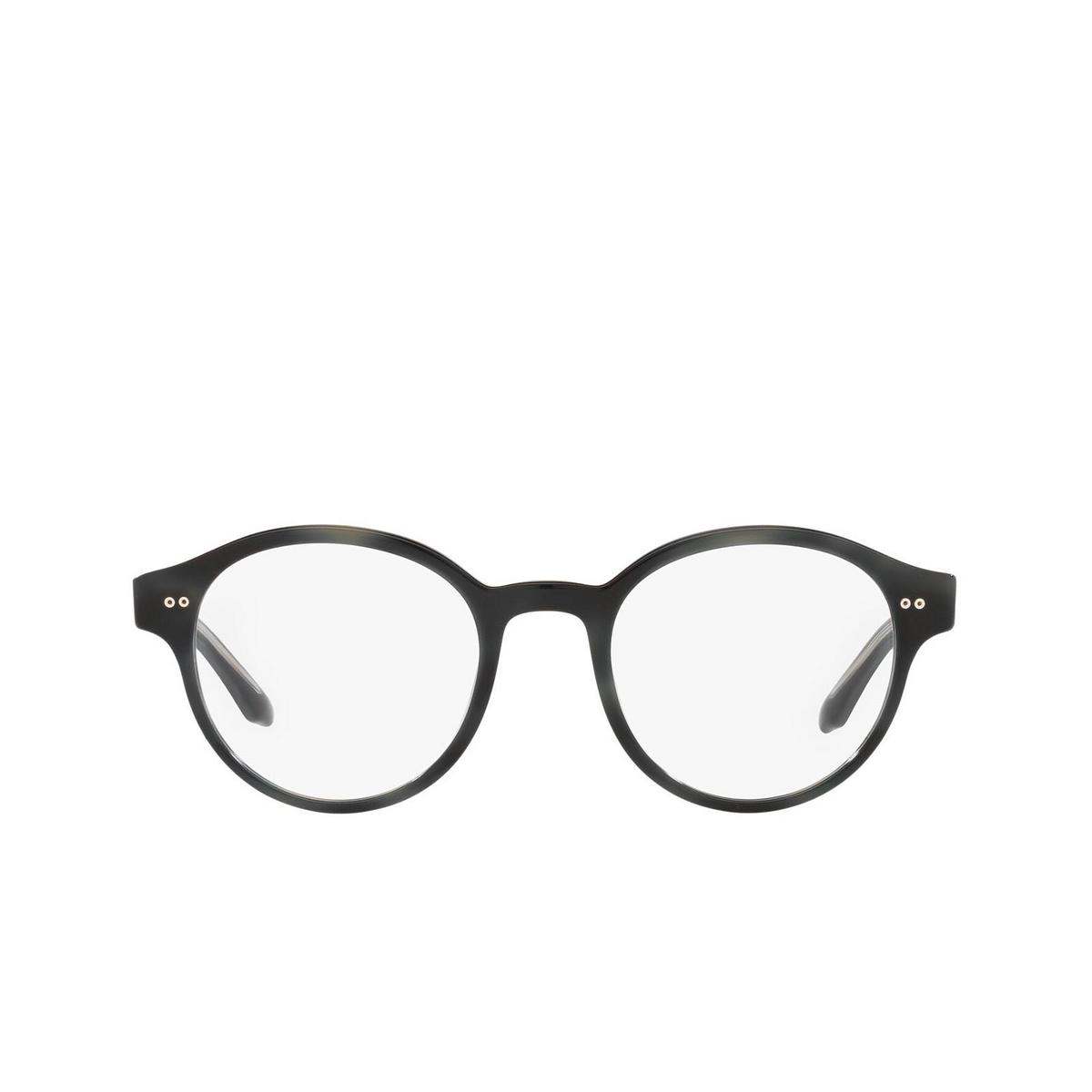 Giorgio Armani® Round Eyeglasses: AR7196 color Black 5001 - front view.