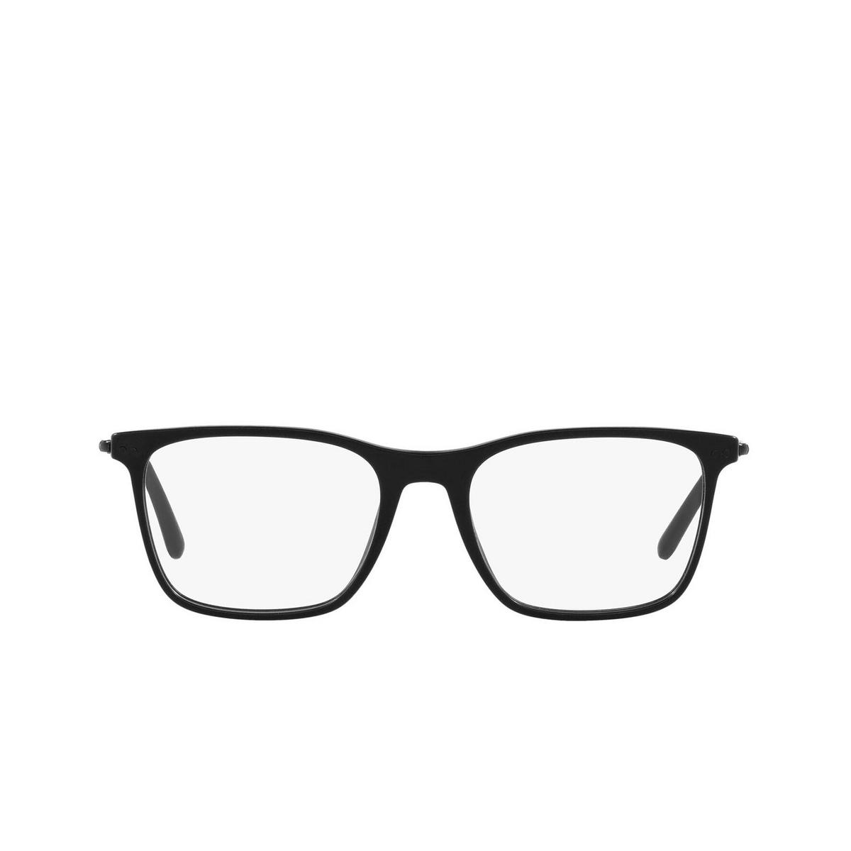 Giorgio Armani® Rectangle Eyeglasses: AR7197 color Matte Black 5042 - front view.