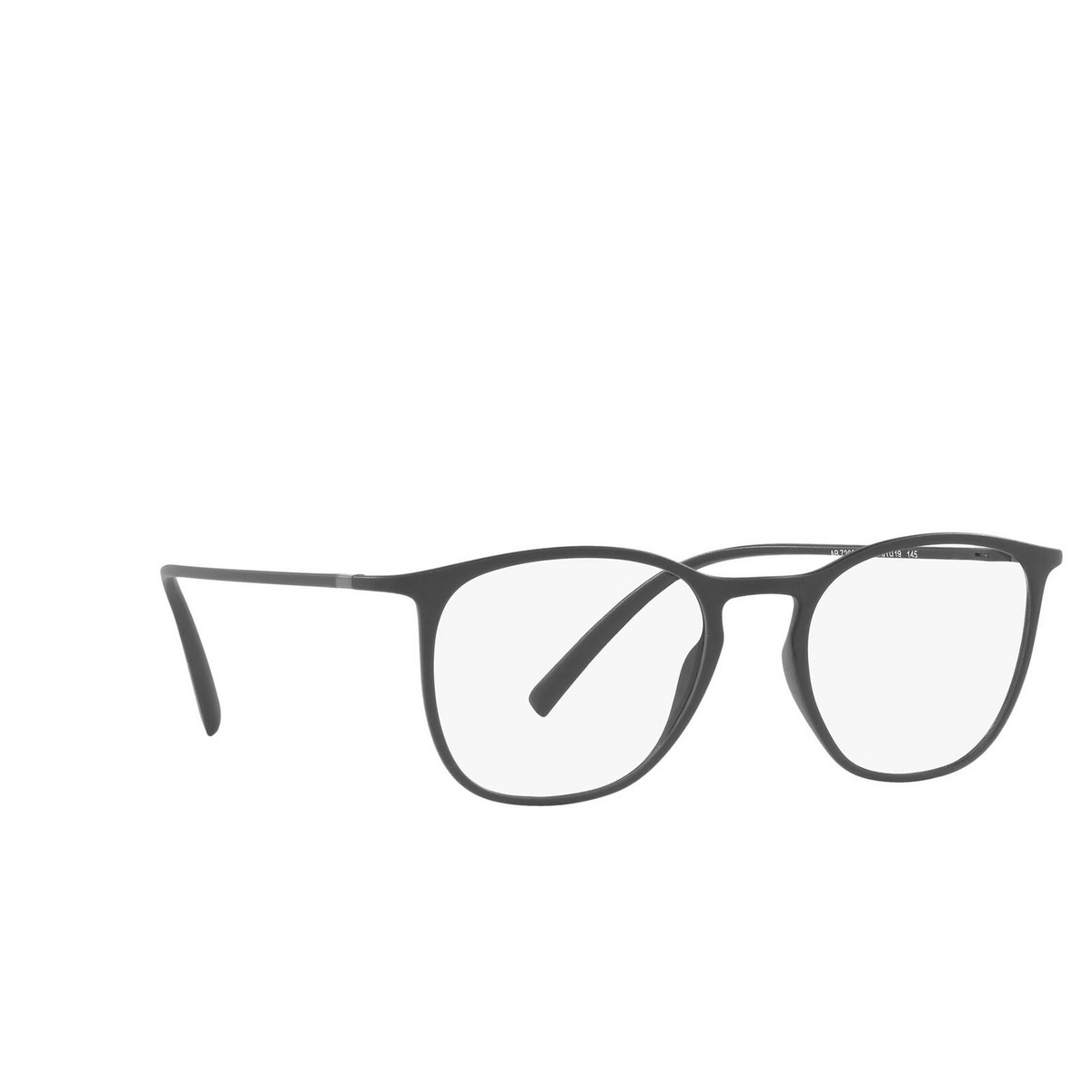 Giorgio Armani® Square Eyeglasses: AR7202 color Matte Grey 5060 - three-quarters view.