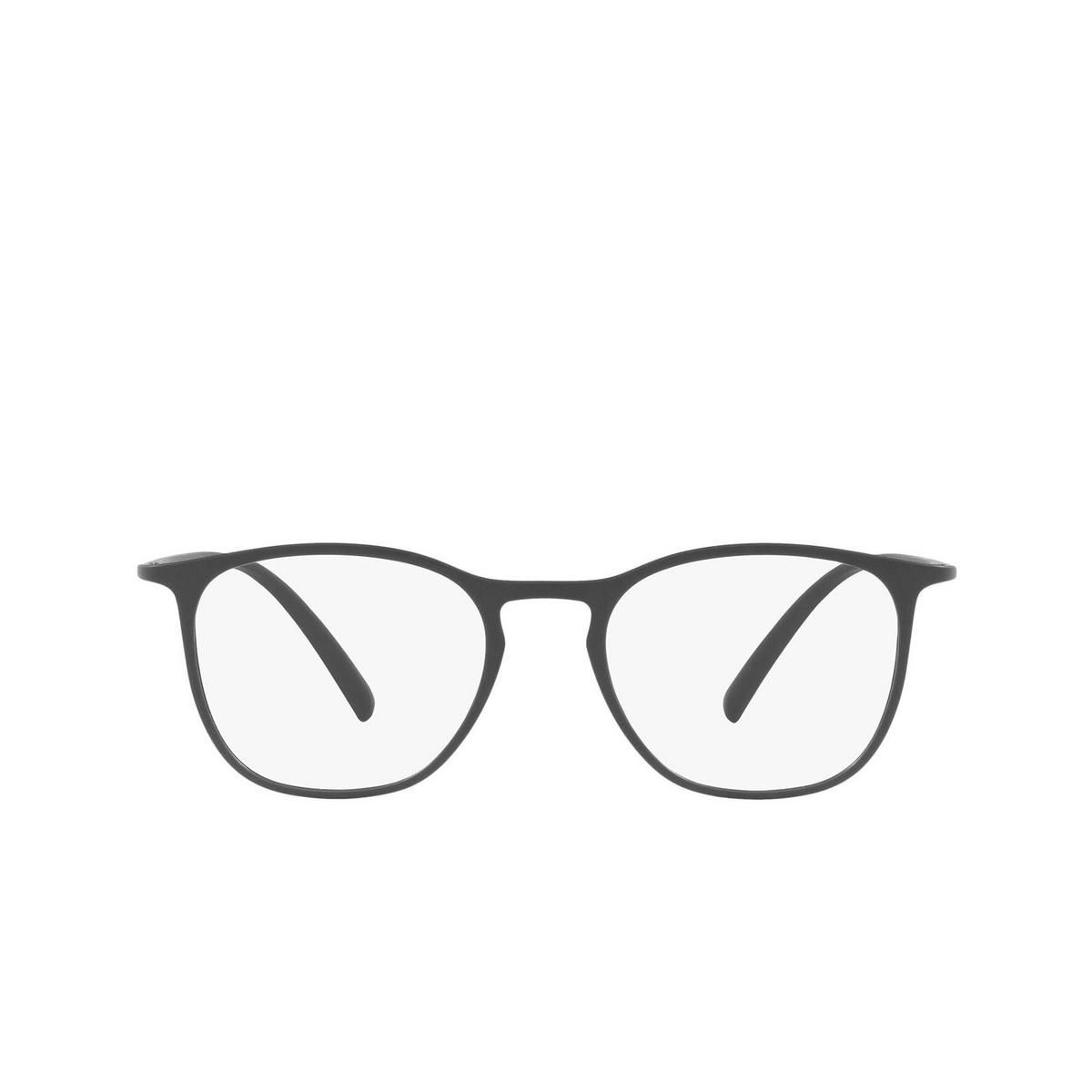 Giorgio Armani® Square Eyeglasses: AR7202 color Matte Grey 5060 - front view.