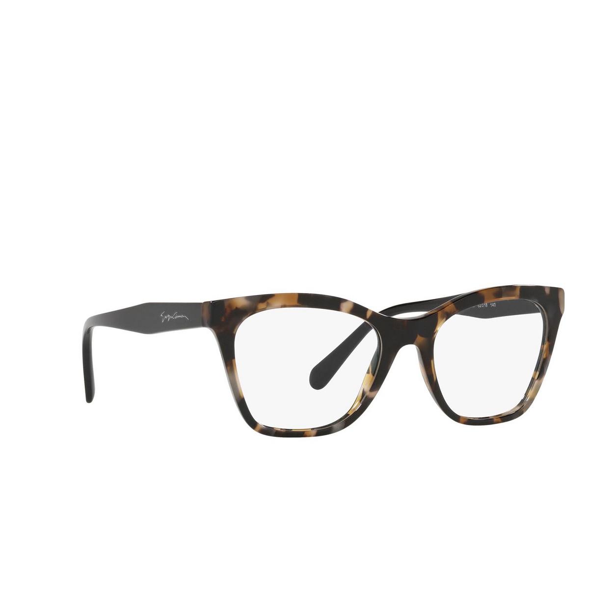 Giorgio Armani® Cat-eye Eyeglasses: AR7205 color Brown Tortoise 5847 - three-quarters view.