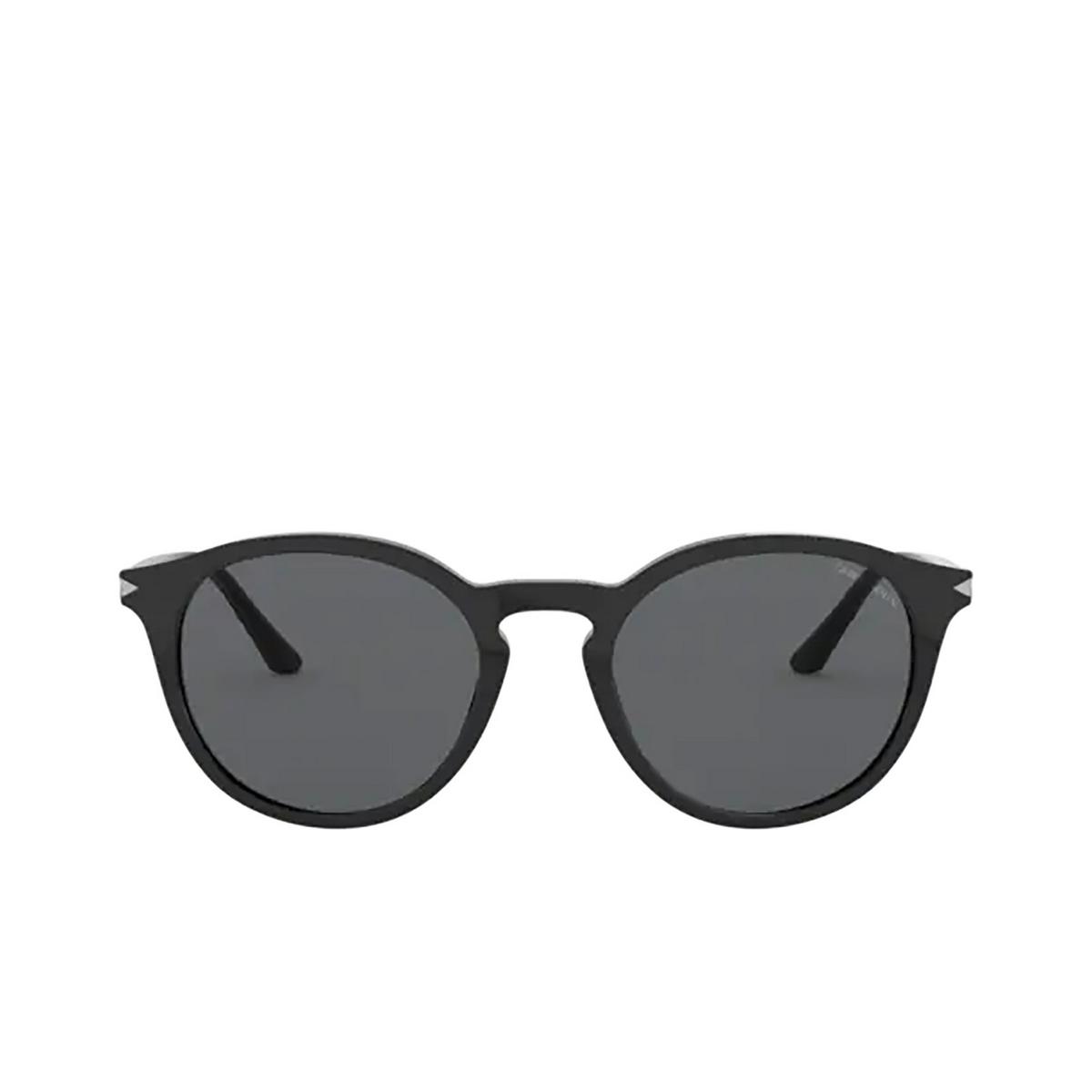 Giorgio Armani® Round Sunglasses: AR8122 color Black 500187 - front view.