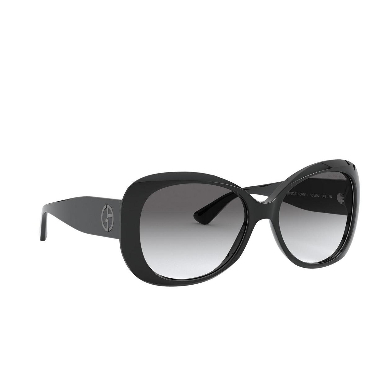 Giorgio Armani® Butterfly Sunglasses: AR8132 color Black 500111 - three-quarters view.