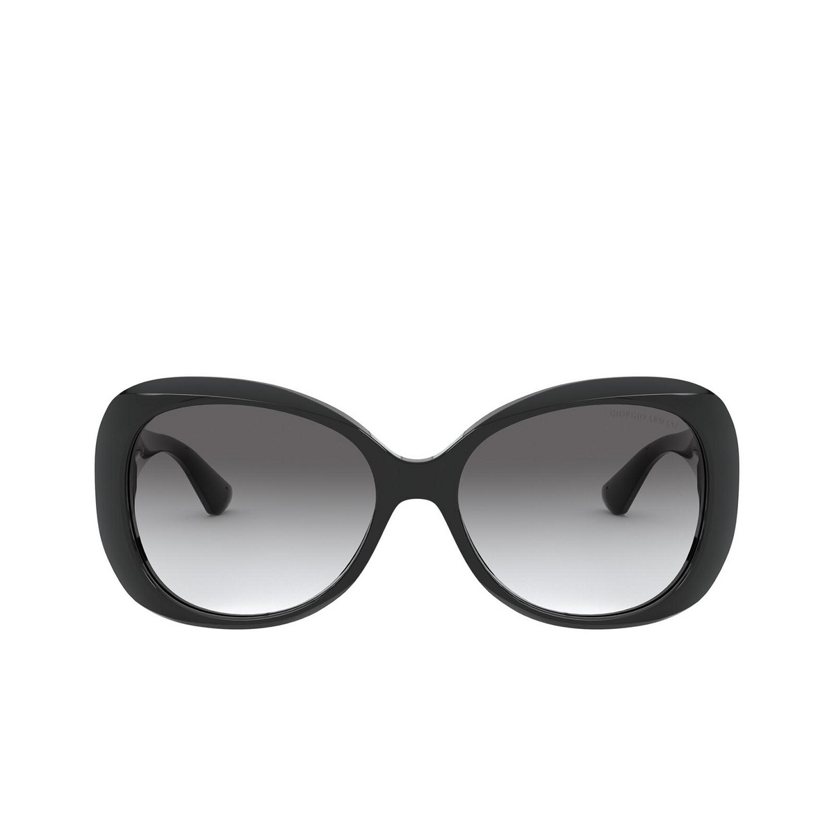 Giorgio Armani® Butterfly Sunglasses: AR8132 color Black 500111 - front view.