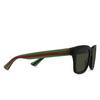 Gucci® Square Sunglasses: GG0001S color Black 001 - product thumbnail 2/3.