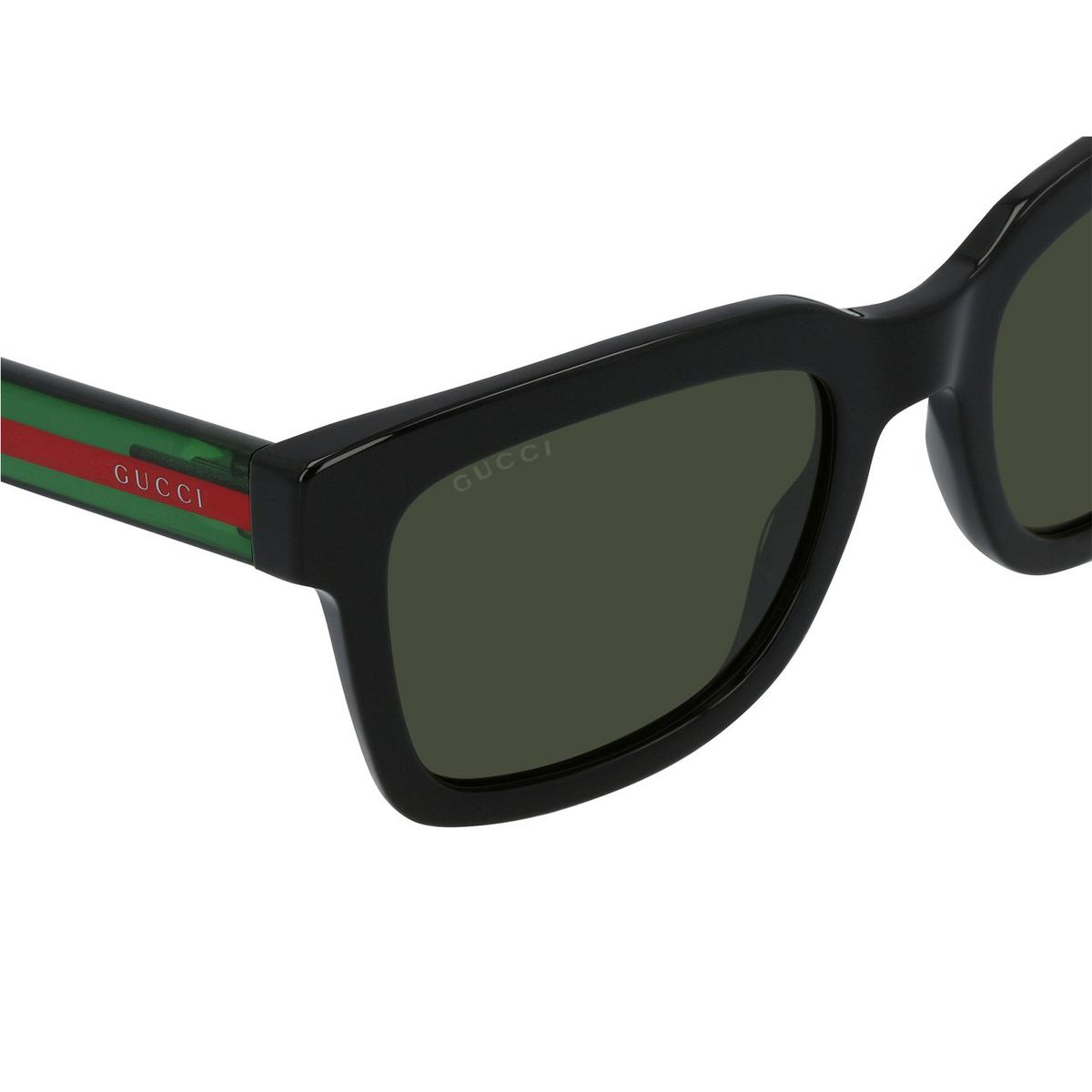 Gucci® Square Sunglasses: GG0001S color Black 001 - 3/3.
