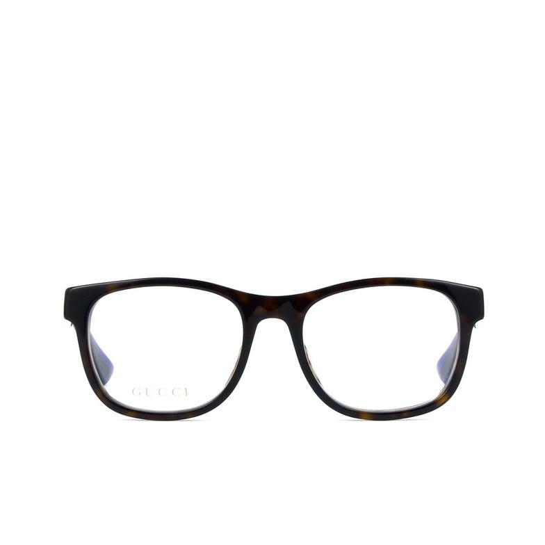 Gucci® Square Eyeglasses: GG0004O color Black 003.