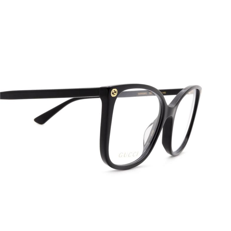 Gucci® Square Eyeglasses: GG0026O color Black 001.
