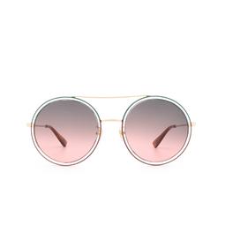 Gucci® Round Sunglasses: GG0061S color Gold 022.