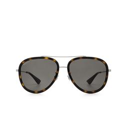 Gucci® Sunglasses: GG0062S color Ruthenium 002.