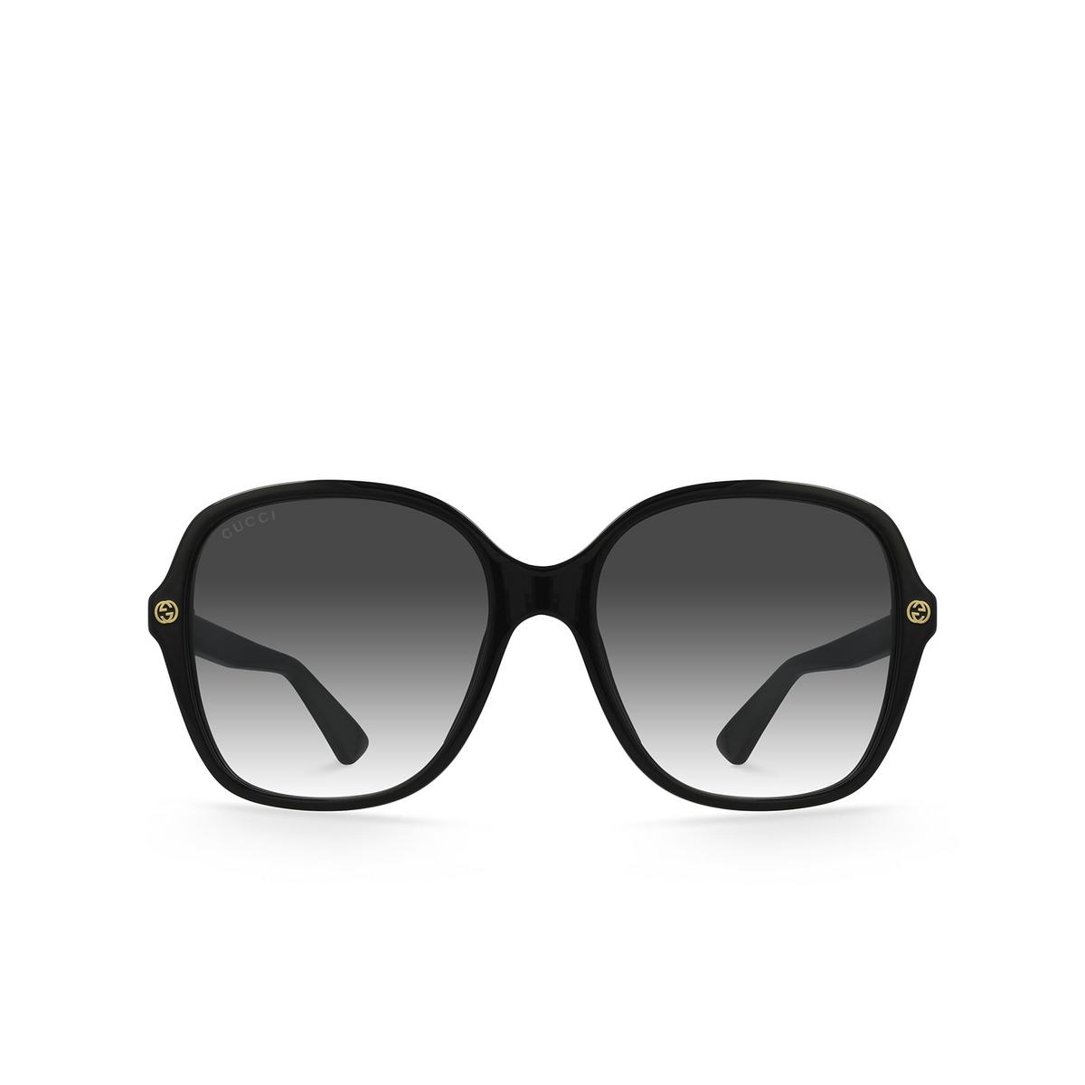 Gucci® Square Sunglasses: GG0092S color Black 001 - front view.