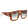 Gucci® Square Sunglasses: GG0141S color Havana 002 - product thumbnail 2/4.