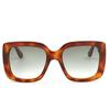 Gucci® Square Sunglasses: GG0141S color Havana 002 - product thumbnail 1/4.