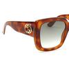Gucci® Square Sunglasses: GG0141S color Havana 002 - product thumbnail 3/4.