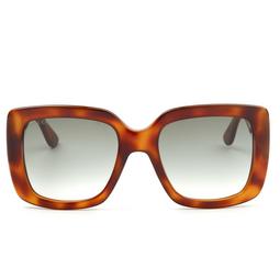 Gucci® Square Sunglasses: GG0141S color Havana 002.
